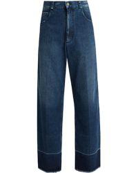 Rachel Comey - Legion Frayed-edge Wide-leg Jeans - Lyst