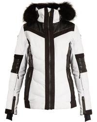 Lacroix - Curl Fur-trimmed Bi-colour Technical Ski Jacket - Lyst