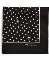 Dolce & Gabbana - Polka-dot Silk Pocket Square - Lyst