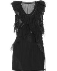Roberto Cavalli | Sleeveless Ruffled Silk-chiffon Top | Lyst