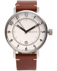 Bravur | Bw001 Stainless-steel And Leather Watch | Lyst