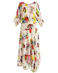 Preen By Thornton Bregazzi - Naomi Floral-print Velvet-devoré Dress - Lyst