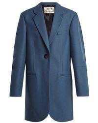 Acne Studios - Klarah Notch-lapel Wool-blend Flannel Coat - Lyst