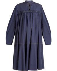 ROKSANDA - Robe en satin de coton à fronces Soraya - Lyst