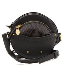 See By Chloé - Rosy Circular Mini Leather Cross-body Bag - Lyst