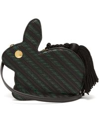 Hillier Bartley - Bunny Striped Lizard Effect Leather Bag - Lyst