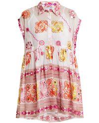 Juliet Dunn - Embroidered Cotton Dress - Lyst