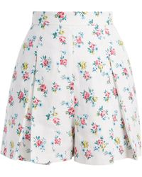 e7b81056fc7b Emilia Wickstead - Leslie High Waisted Linen Shorts - Lyst