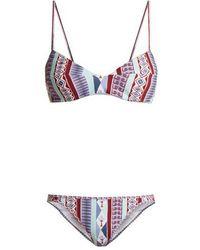 Le Sirenuse - Myriam Arlechino-print Bikini - Lyst