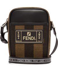 Fendi - Pequin Striped Canvas Camera Bag - Lyst