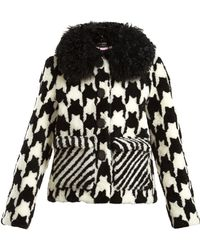 Saks Potts | Lucy Hound's-tooth Shearling Jacket | Lyst