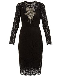 eae49ff9bf2 Dolce   Gabbana - Crystal Embellished Guipure Lace Dress - Lyst