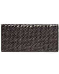 Ermenegildo Zegna - Bi-fold Woven-leather Wallet - Lyst