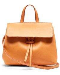 98d0e4cbb181 Lyst - Mansur Gavriel Mini Mini Lady Leather Cross Body Bag in Pink