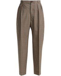 Maison Margiela - High Waist Tweed Trousers - Lyst