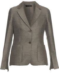 Calvin Klein - Hamlin Single-breasted Wool And Silk-blend Blazer - Lyst