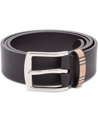 Burberry - Garin Grained Leather Belt - Lyst