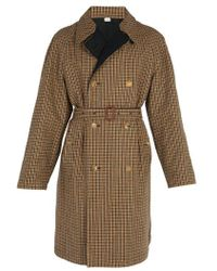 Gucci - Reversible Embroidered Wool Trench Coat - Lyst