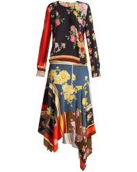 Preen Line - Kaia Floral-print Crepe De Chine Dress - Lyst