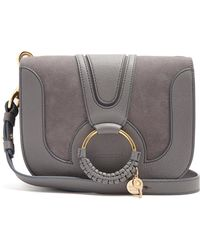 See By Chloé - Hana Suede And Leather Cross-body Bag - Lyst