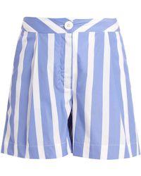 Thierry Colson   Mach Striped Cotton-poplin Shorts   Lyst