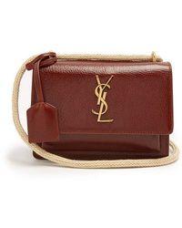 Saint Laurent - Sunset Small Leather Cross-body Bag - Lyst