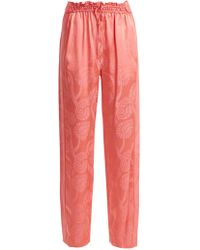Peter Pilotto - High Rise Floral Jacquard Satin Trousers - Lyst