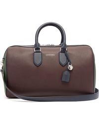 Alexander McQueen - Colour Block Leather Duffle Bag - Lyst