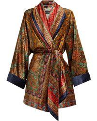 Etro - Sunstone Printed Devoré-velvet Jacket - Lyst