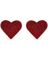 Valentino - Crystal Hoop Earrings - Lyst