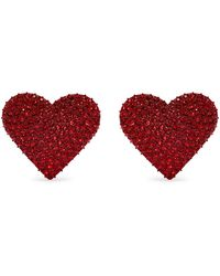 Valentino - Heart-embellished Clip-on Earrings - Lyst