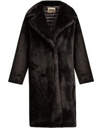 Herno - Water Resistant Padded Faux Fur Coat - Lyst