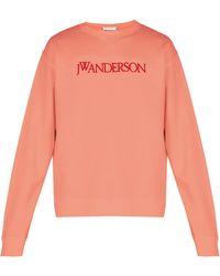 JW Anderson - Logo-embroidered Cotton Sweatshirt - Lyst