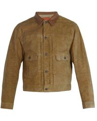 RRL - Roughout Suede Jacket - Lyst