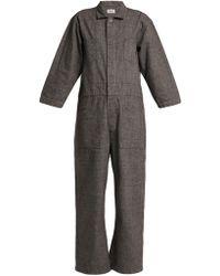 Chimala - Wide Leg Cotton Blend Jumpsuit - Lyst