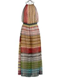 Missoni - Zigzag Knitted Wide-leg Jumpsuit - Lyst
