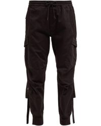 Maharishi - Pantalon de jogging en sergé de coton style cargo - Lyst