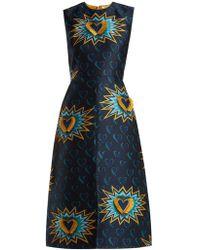 Fendi - Heart Beat Jacquard Midi Dress - Lyst