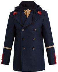 Gucci - Caban Detachable-hood Wool Coat - Lyst