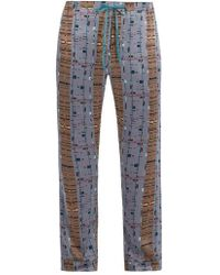 Meng - Printed Silk Pyjama Bottoms - Lyst
