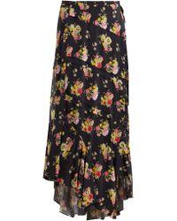 Preen Line - Sibyll Floral Print Crepe De Chine Midi Skirt - Lyst