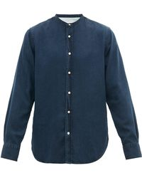 Officine Generale Gaspard Garment Dyed Cotton Chambray Shirt