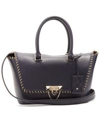 Valentino - Demilune Trapeze Chain-embellished Tote - Lyst