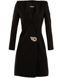 Givenchy - Crystal-embellished Wool-blend Dress - Lyst