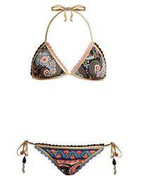 Anjuna - Crochet Trimmed Reversible Triangle Bikini - Lyst