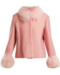 Saks Potts - Dorthe Fur-trimmed Wool Jacket - Lyst