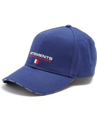 Vetements | Logo-embroidered Canvas Cap | Lyst