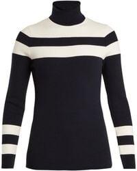 Fusalp - Stripe Roll-neck Intarsia-knit Performance Sweater - Lyst