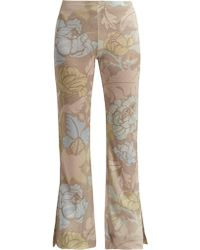 Acne Studios - Leaf-print Knitted Trousers - Lyst