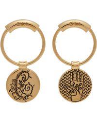 Chloé - Emoji Engraved Charm Earrings - Lyst